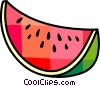 Vector Clip Art image  of a Watermelons