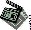 Vector Clip Art graphic  of a Clapper Boards