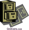 Filing Cabinets Vector Clipart graphic
