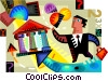 Vector Clip Art picture  of a Banks