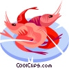 Cooked Shrimp Vector Clip Art picture