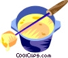 Vector Clip Art image  of a Fondues
