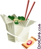 Chinese noodles Vector Clipart graphic