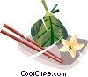 Vector Clip Art image  of a Japanese
