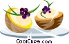 Stuffed sliced fruit Vector Clip Art picture
