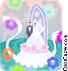 Vector Clipart graphic  of a Wedding cake