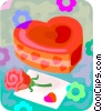 Vector Clip Art image  of a Valentines day chocolates