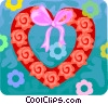 Vector Clipart image  of a Valentines day heart