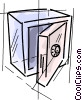 Vector Clipart image  of a Vaults and Safes