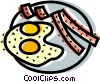 Bacon & Eggs Vector Clipart picture