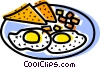 Vector Clipart graphic  of a Bacon & Eggs