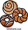 Vector Clipart picture  of a Donuts