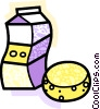 Milk and cheese Vector Clip Art picture