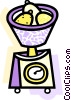 Vector Clip Art image  of a Kitchen Scales
