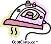 Vector Clipart image  of a Irons Ironing