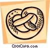 Vector Clip Art image  of a Pretzels