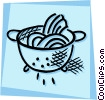 Vector Clip Art image  of a Serving Trays