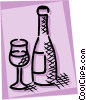 Vector Clipart illustration  of a Wine