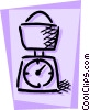 Vector Clipart illustration  of a Scales