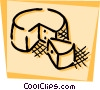 Vector Clip Art graphic  of a Cheeses