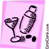 Cocktails and Mixed Drinks Vector Clipart graphic
