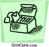 Vector Clip Art graphic  of a Teabags