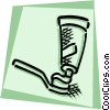 Toothpaste Vector Clipart illustration