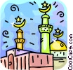 Vector Clipart illustration  of a Islamic Mosque