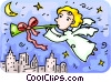 Vector Clip Art picture  of an an angel