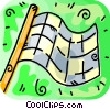 Vector Clip Art picture  of a racing flag