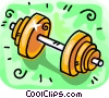 Vector Clipart picture  of a barbells