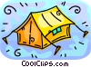 Vector Clipart illustration  of a Camping tent
