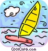 Vector Clipart picture  of a Windsurfing