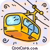 Vector Clipart graphic  of a Ski lift