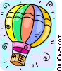 hot air balloon Vector Clipart illustration