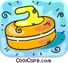 curling rock Vector Clip Art picture