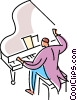 Vector Clip Art picture  of a Pianists