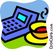 Calculators Vector Clip Art graphic