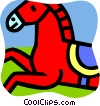 Vector Clipart graphic  of a Horses