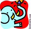 Vector Clipart picture  of a Elephants