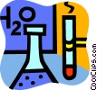 Vector Clipart picture  of a Beakers Flasks and Test Tubes