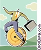 Vector Clip Art image  of a business metaphor