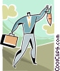 businessman chasing a carrot Vector Clip Art picture