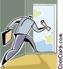 businessman on the run Vector Clipart illustration