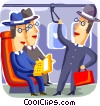 Passengers on a subway Vector Clipart picture