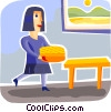Vector Clip Art image  of a Homemaker