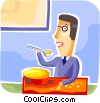 Meals Vector Clipart illustration