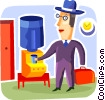 Vector Clipart graphic  of an At the Water Cooler