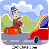 Business Travel Vector Clipart illustration