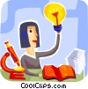 Vector Clipart image  of a Idea Light bulbs